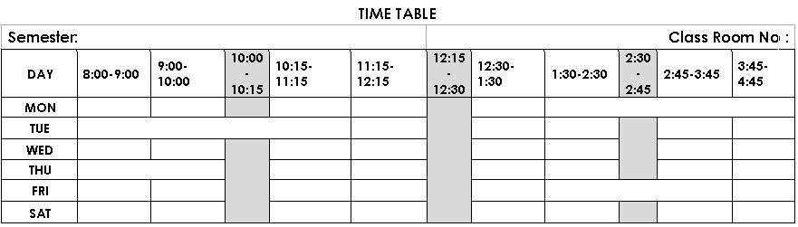 how to make timetable fills